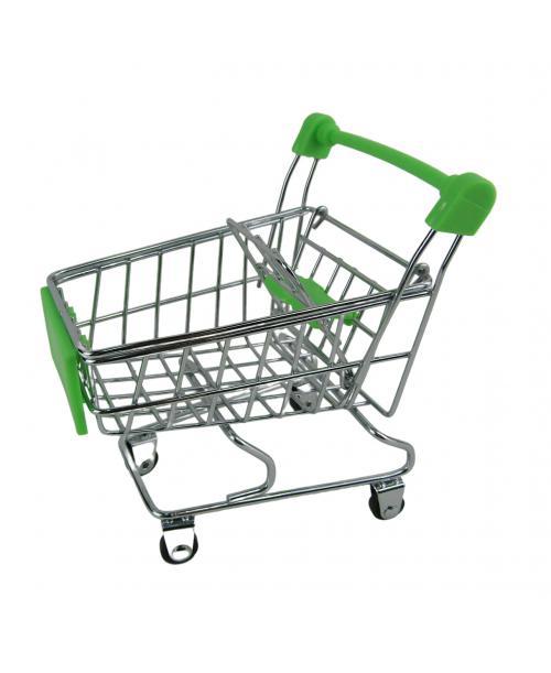 Wózek Sklepowy dla lalek na zakupy 12 cm zielony