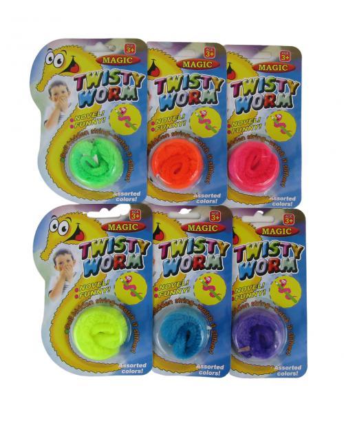 6 SZT TWISTY WORM magiczny robaczek zabawka KOLORY